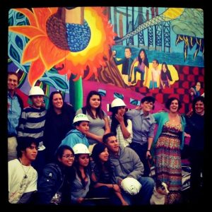 true colors mural event group photo