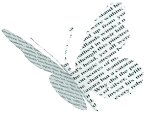 butterfly cut out book writing